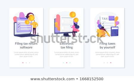 Income statement app interface template. Stock photo © RAStudio