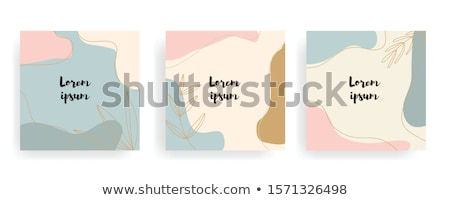 anniversary   abstract colorful icons and elements set stock photo © marish