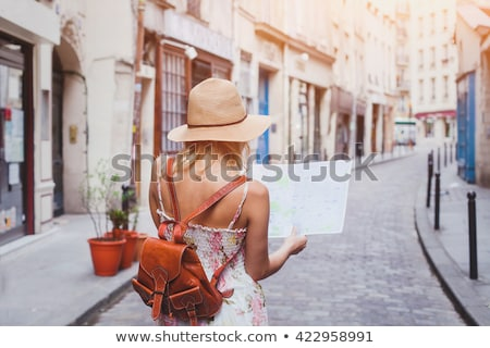 european city travelers tourists in old town stock photo © robuart