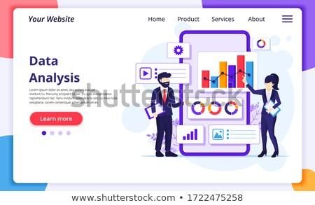 Sprawozdanie finansowe działalności analityka internetowych wektora Zdjęcia stock © robuart