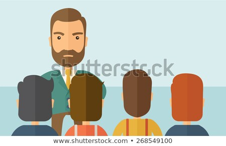 Conflict at work - colorful flat design style illustration Stock photo © Decorwithme