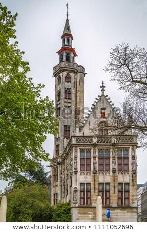Bélgica tem praça água cidade tijolo Foto stock © borisb17