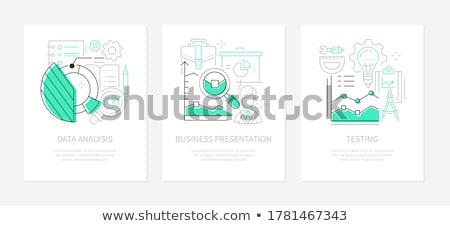Business management - line design style icons set Stock photo © Decorwithme