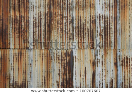 Corrugated iron aged patina Stock photo © lovleah