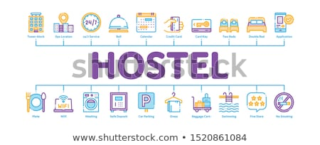 Hostel Minimal Infographic Banner Vector Stock photo © pikepicture