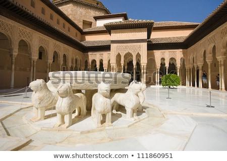 アルハンブラ宮殿 · スペイン · 表示 · 庭園 · 建物 · 空 - ストックフォト © borisb17