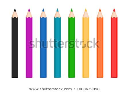 cor · lápis · branco · papel · madeira · criança - foto stock © imaagio