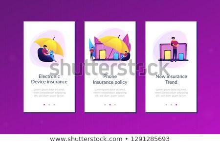 電子 · 保険 · アプリ · インターフェース · テンプレート - ストックフォト © rastudio