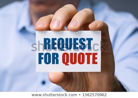 Mann beantragen zitieren Karte Text Stock foto © AndreyPopov