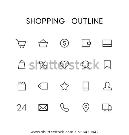 Por cento pesquisar sinais ícone vetor Foto stock © pikepicture