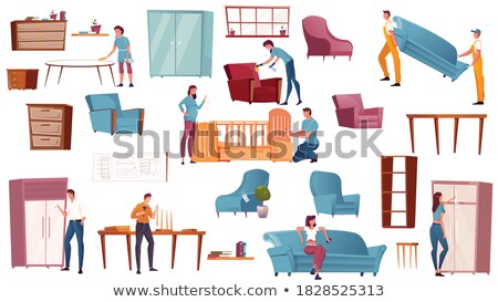 Furniture Delivery and Assembly Store Service Set Stock photo © robuart