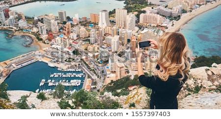 вид сзади женщину вверх рок наслаждаться Сток-фото © amok