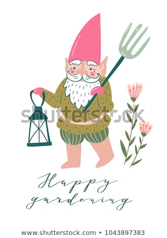 Gnome and Fork Stock photo © naffarts