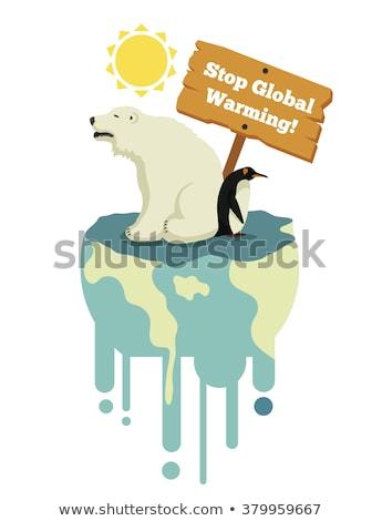 Poster dizayn küresel isınma toprak örnek gökyüzü Stok fotoğraf © bluering
