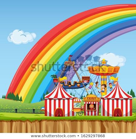 Circo cena crianças jogar dia tempo Foto stock © bluering
