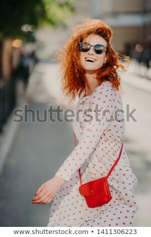 幸せ 気楽な 赤毛 女性 自由時間 屋外 ストックフォト © vkstudio