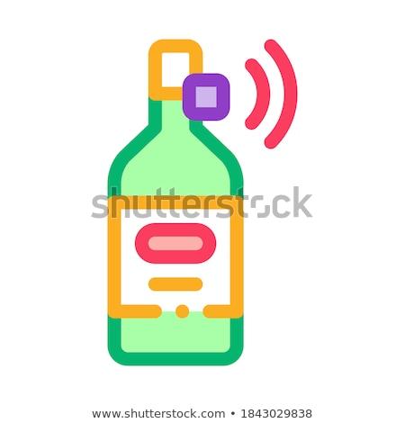 Bottiglia segnale sensore icona vettore Foto d'archivio © pikepicture