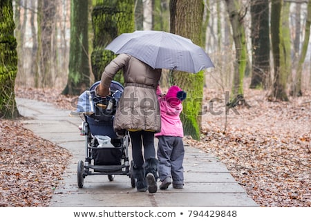 Mother and Child Walking Together, Winter Weather Stock photo © robuart