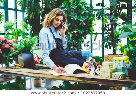 Profesional jardinero horizontal aire libre Foto stock © dash