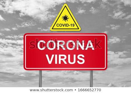 Coronavirus banner teken Geel Stockfoto © feverpitch