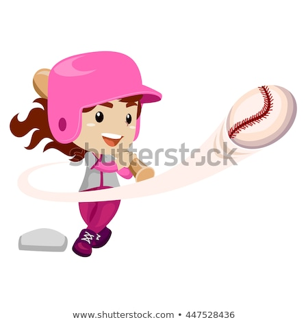 isolated baseball girl stock photo © keeweeboy