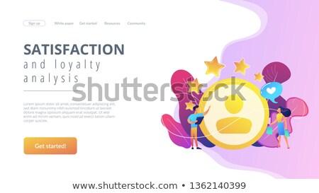 Tevredenheid loyaliteit analyse landing pagina Stockfoto © RAStudio