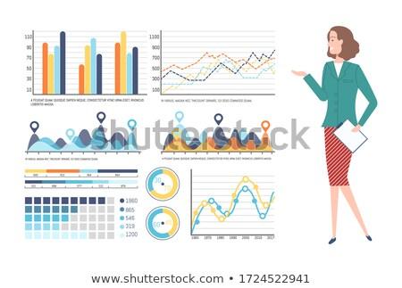 Tábla adat tábla használt bemutató megbeszélés Stock fotó © robuart