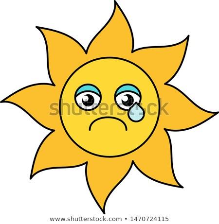 Zon emoticon schets illustratie social media Stockfoto © barsrsind
