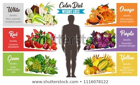 Verde antioxidante orgânico legumes frutas ervas Foto stock © dash