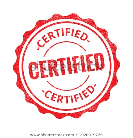 certified rubber stamp seals for approved products Stock photo © SArts