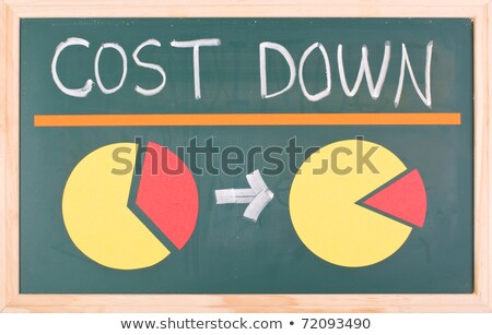 cost down words and pie chart stock photo © ansonstock