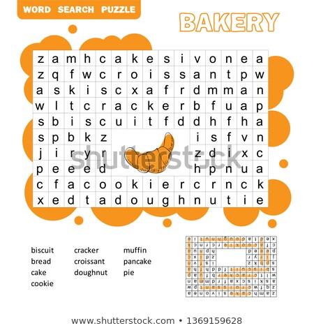 Ricerca parole gioco educativo bambini attività Foto d'archivio © natali_brill