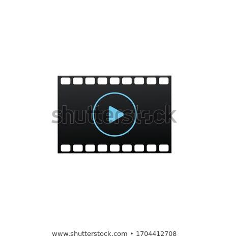 Filmstrip icon. Film or Media Icon. Play button. Cinema strip. TV Movie entertainment symbol. Stock  Stock photo © kyryloff