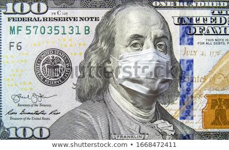 Coronavirus USA 100 dollaro soldi bill Foto d'archivio © fotoscool