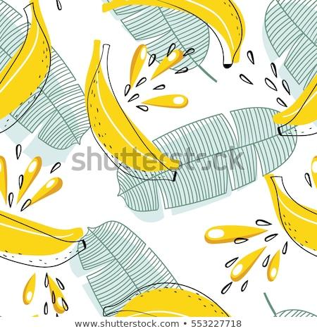 Seamless pattern of doodles food elements on white background.  Stock photo © Margolana