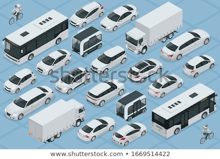 Openbaar vervoer taxi auto taxi isometrische icon Stockfoto © pikepicture