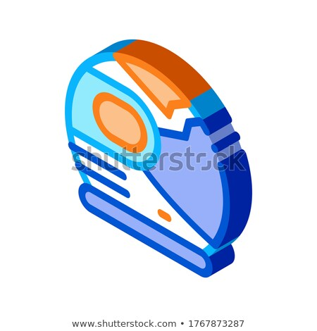 Spaceman Helmet Mask isometric icon vector illustration Stock photo © pikepicture