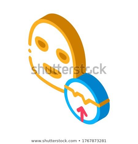 Wrinkle Smoothing Mask isometric icon vector illustration Stock photo © pikepicture
