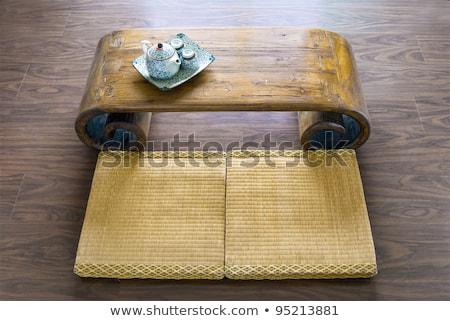 Японский · чай · дома · традиционный · каменные · фонарь - Сток-фото © ansonstock