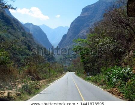 Гондурас шоссе знак зеленый облаке улице знак Сток-фото © kbuntu