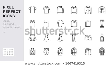 vrouw · vrouwelijke · kleding · iconen · vector - stockfoto © stoyanh