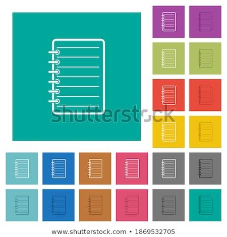 Bloco de notas canto escritório escrever pin Foto stock © IMaster
