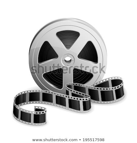 3D Film Reel изолированный белый искусства фильма Сток-фото © cidepix