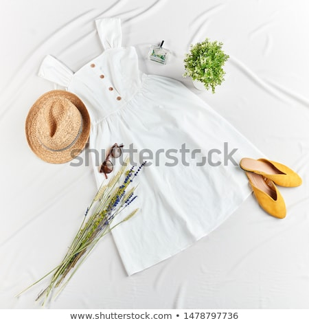 gyönyörű · ruha · fehér · szép · tunika · izolált - stock fotó © lypnyk2