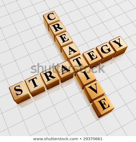 Kleur creatieve strategie zoals kruiswoordraadsel 3D Stockfoto © marinini