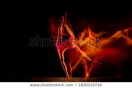 Siyah güzel ince esmer kız seksi Stok fotoğraf © disorderly