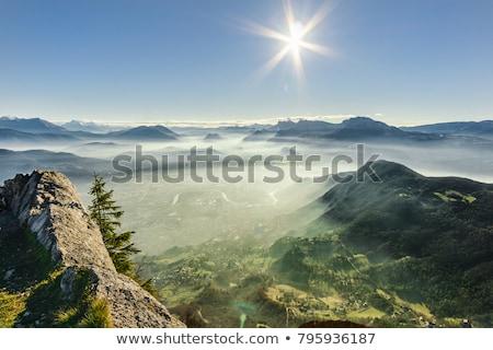Vale francês alpes ensolarado alpino cenário Foto stock © prill