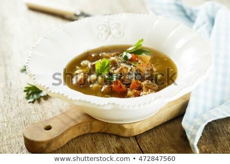 Zuppa anguilla isolato bianco piatto pranzo Foto d'archivio © zybr78