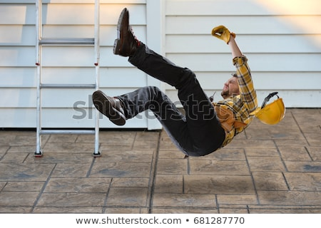 Construction worker falling Stock photo © photography33