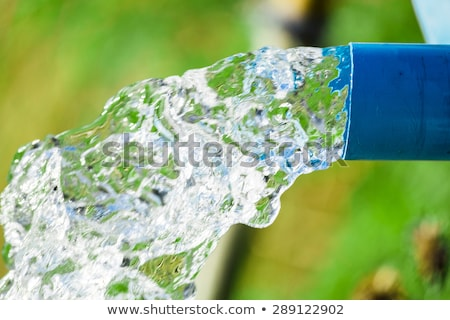 Farmer opening a water pipe Stock photo © photography33